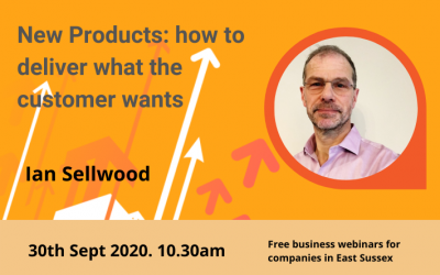 New Products: how to deliver what the customer wants (Sept 2020)